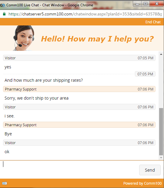 Customer Service Support via Live Chat on Best Generic Drugs