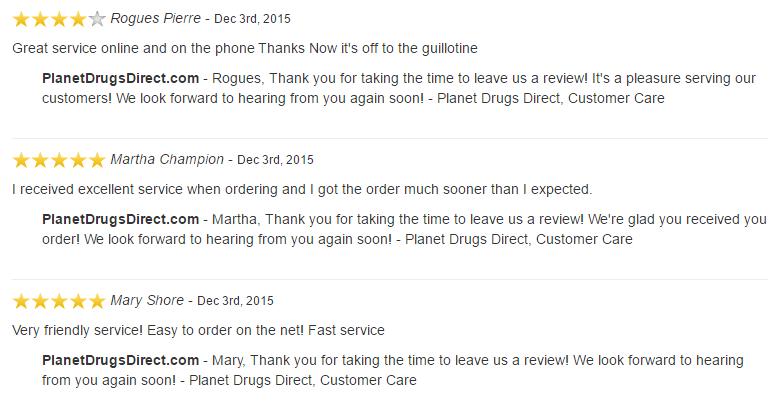 PlanetDrugsDirect.com feedback