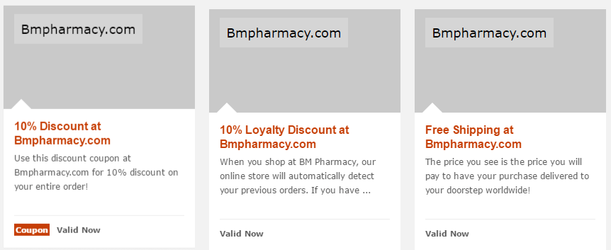 Best Deals for BMPharmacy.com on the Internet
