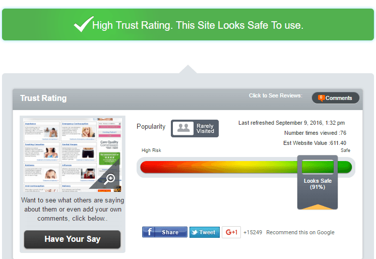 Private Doc Reviews Trust Rating by Scamadviser