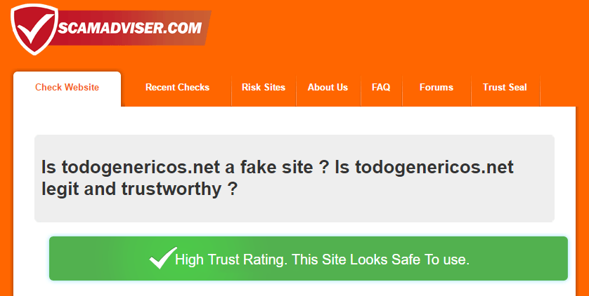 Is ToDoGenericos.net a Fake Site?