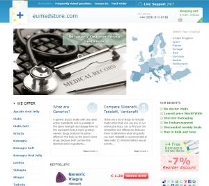 The Main Page of EUmedstore.com