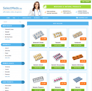 The Main Page of Selectmeds.biz