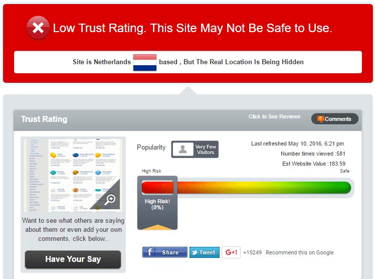 Canadian-Pills-Store.com Trust Rating