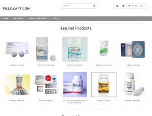 Front Page of Pills-Cart.com