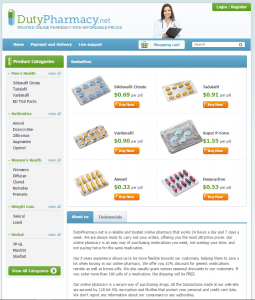 Home Page of DutyPharmacy.net