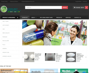 front Page of StarlightPharmacy.com