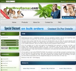 Bestdrugcorner.com Layout