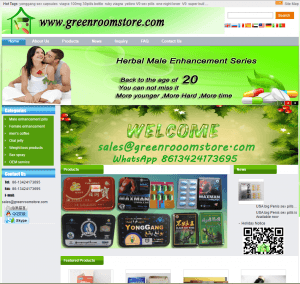 Home Page of Greenroomstore.com