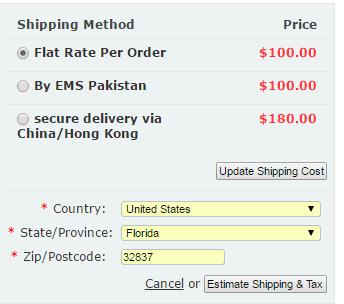Shipping info on Pharmaplusplus