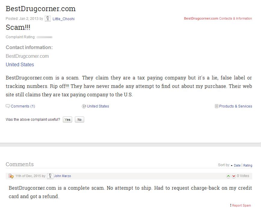 Bestdrugcorner.com Reviews