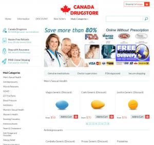 CanadaDiscountDrugstore.com design