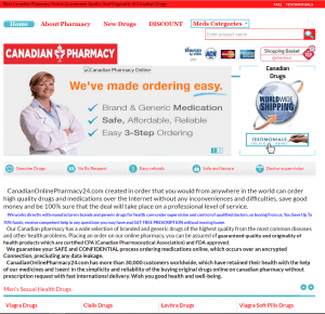CanadianOnlinePharmacy24.com Home