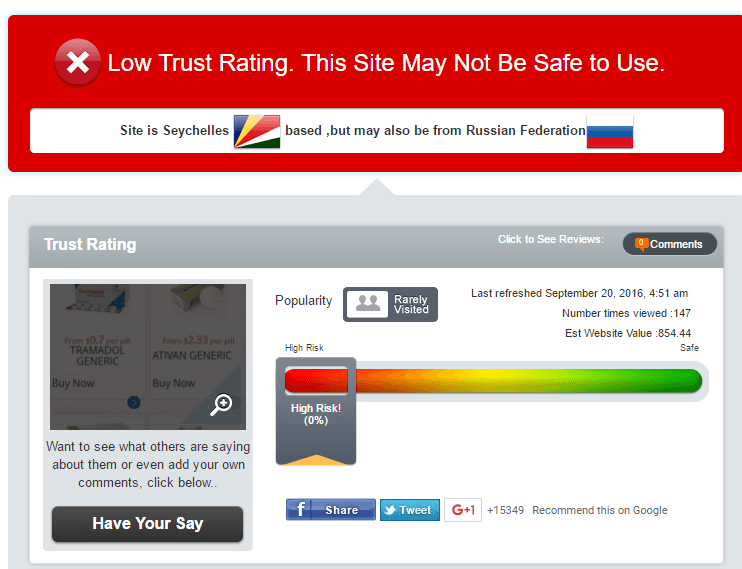 Easy For Shoppers Trust Rating by Scamadviser