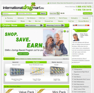 Home Page of InternationalDrugMart.eu