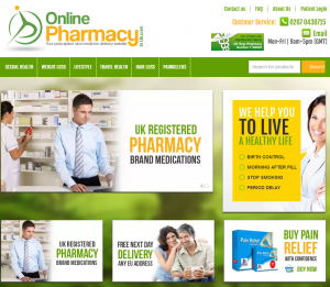 Onlinepharmacyinuk.com Home Page