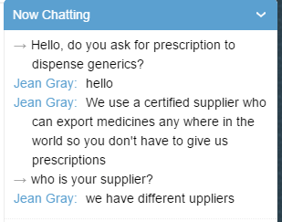 Chatting with Customer Service Representative of OnlinePharmacytabs24