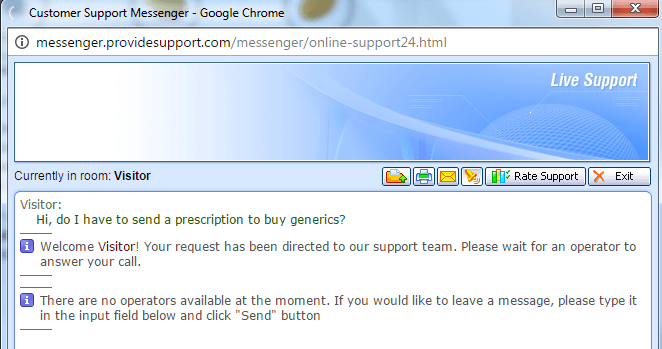 Chatting with Customer Service Representative of New-Qualitypharm.com