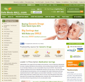 Front Page of Safemeds4all.com