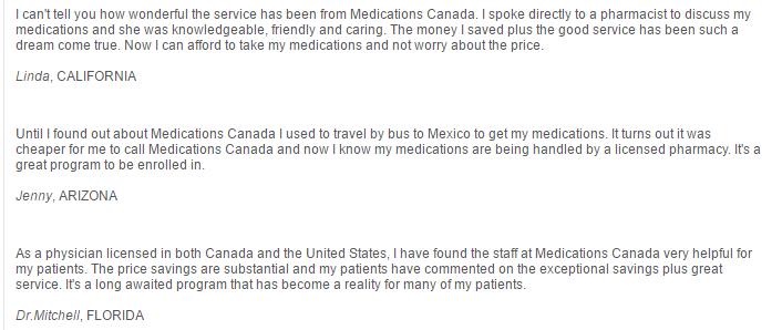 MedicationsCanada.com Reviews