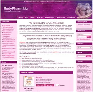 Front Page of BodyPharm.biz
