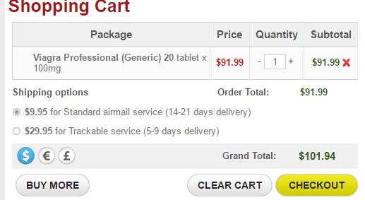 Shipping Service Cost on Hotmedline.com