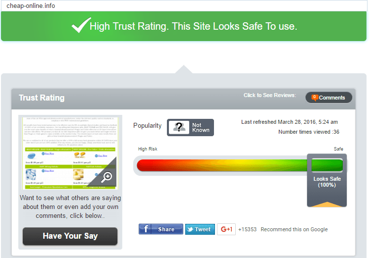 Cheap-Online Trust Rating by Scamadviser