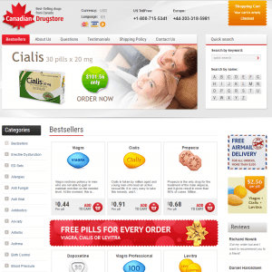 Home Page of Best-Canadian-Drugstore.com