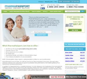 Pharmapassport.com Front Page