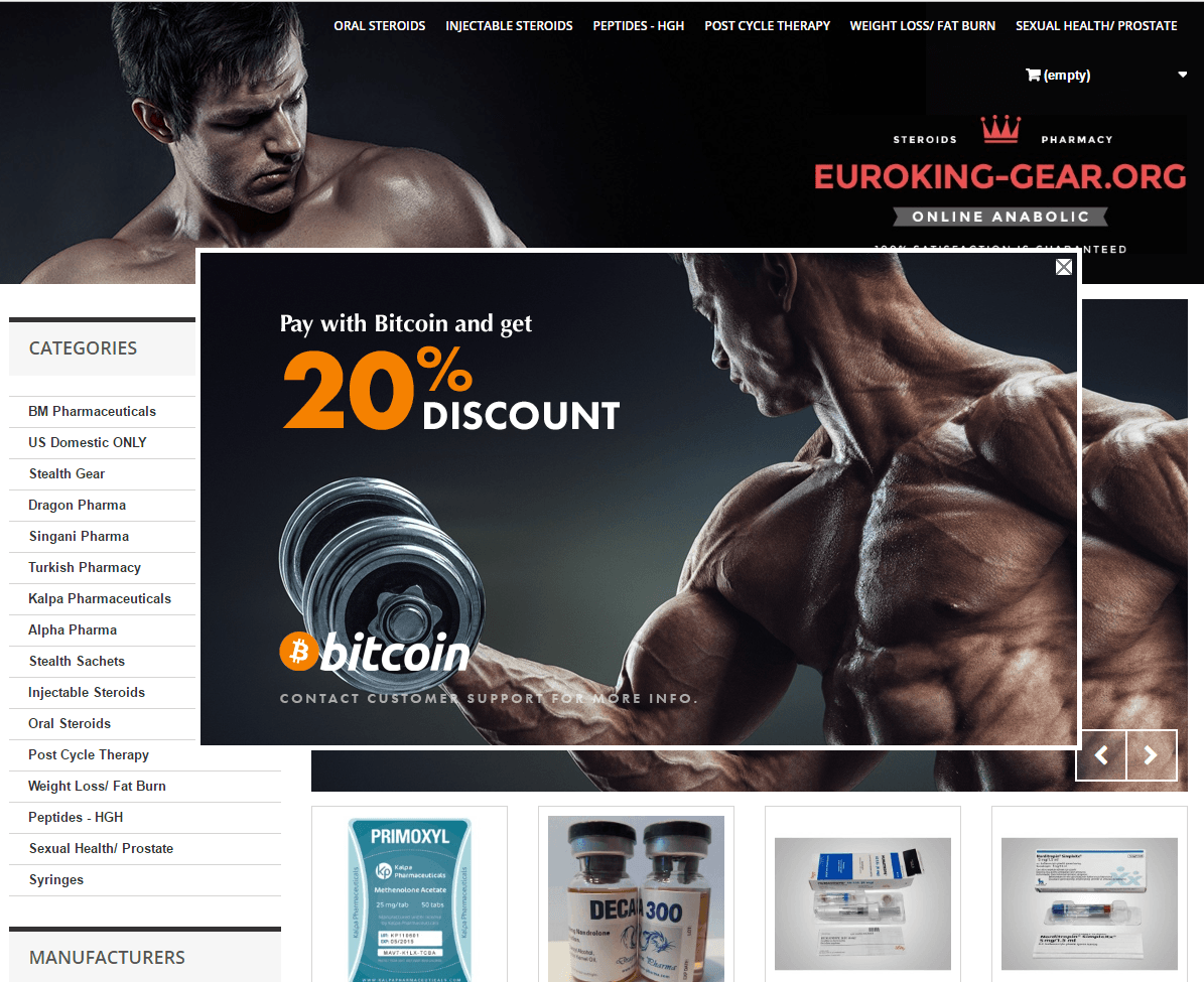 Euroking-Gear com Review – Steroids Website with Positive