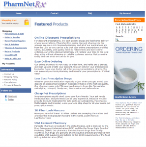 Home Page of PharmNet