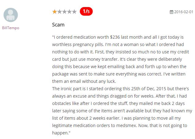 Meds Mex Reviews 2016