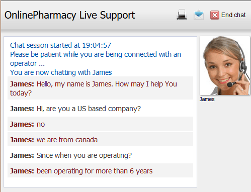 Customer Service Support via Live Chat on Healpharmacy.com