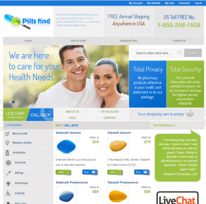 Front Page of Pillsfind.com
