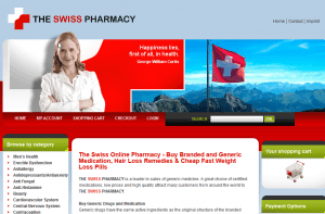 TheSwissPharmacy.com Front End