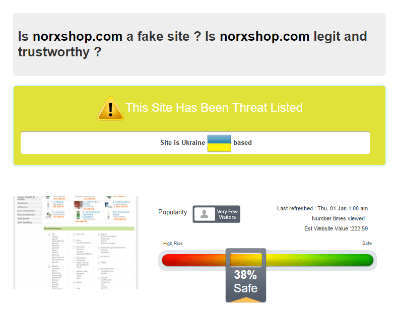 Is Norxshop.com a fake site