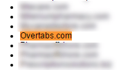 Overtabs.com in a rogue websites list