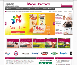 The Main Page of ManorPharmacy.co.uk