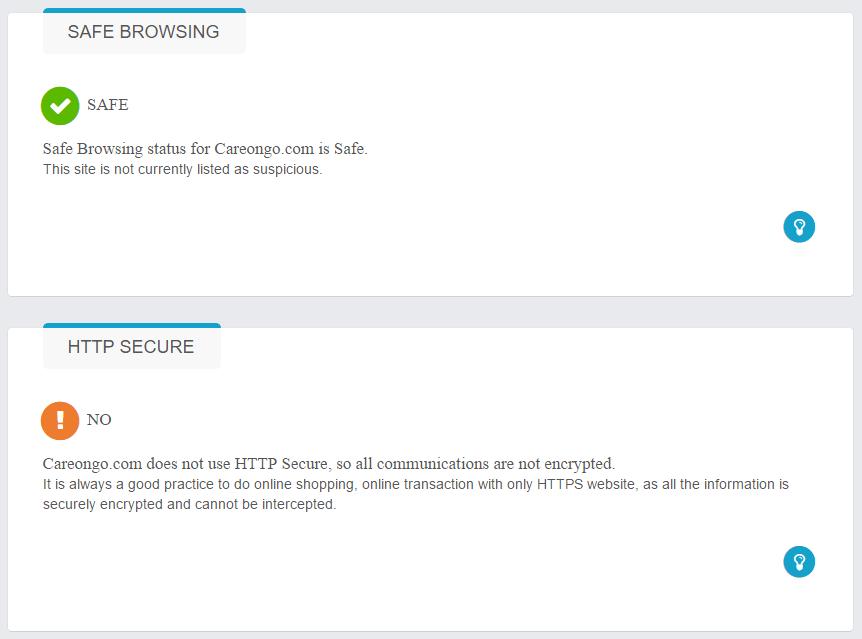 Careongo.com Safety information