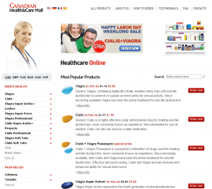 The Main Page of Online-canadian-pharmacy.com