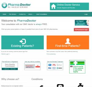 Pharmadoctor.co.uk Design