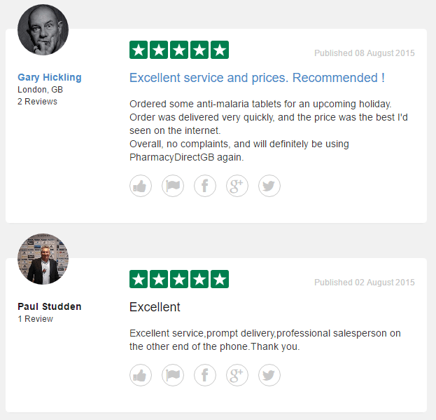 Pharmacydirectgb.co.uk Reviews on Trustpilot