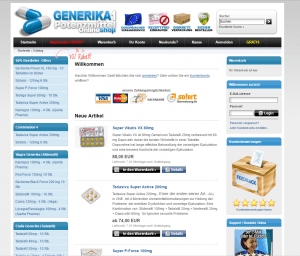 Generika1.com Website Design