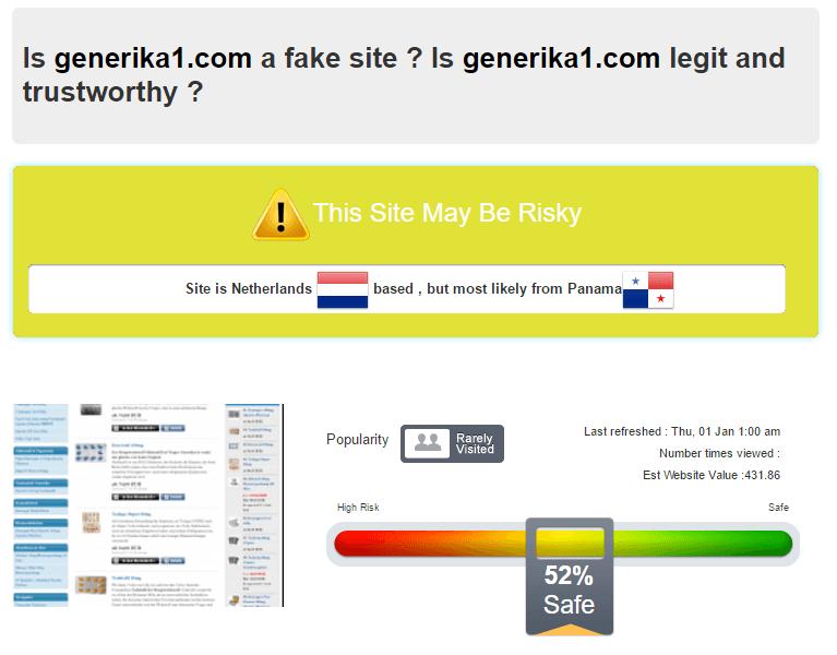Generika1.com Verdict