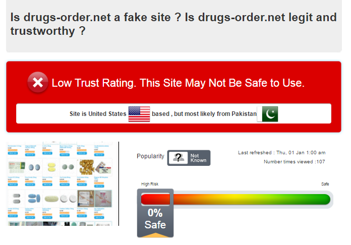 Drugs-order.net Scam Analysis