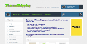 PharmaShipping.net Home Page
