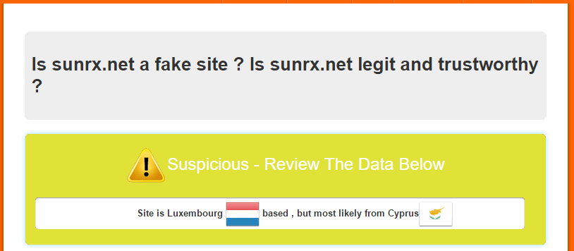 Is Sunrx.net a Fake Site?
