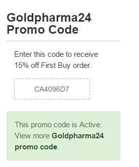 Goldpharma-24.com Promo Code