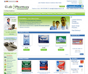 The Main Page of Click2Pharmacy.co.uk