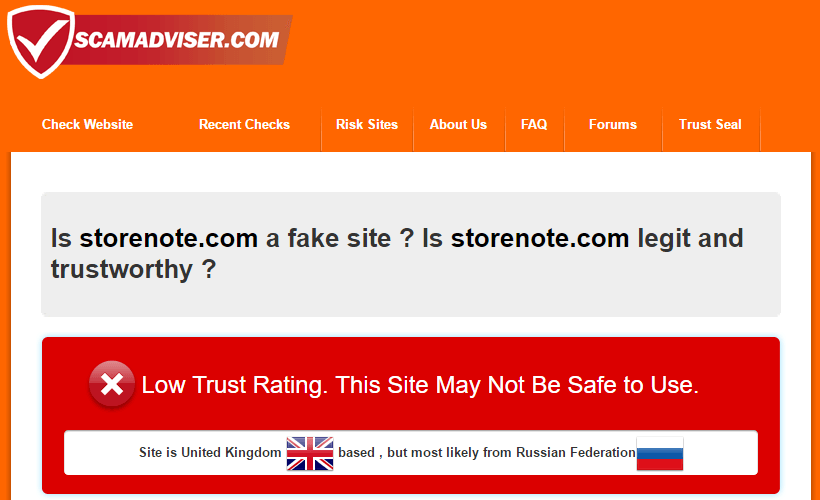 Is Storenote.com a Fake Site?